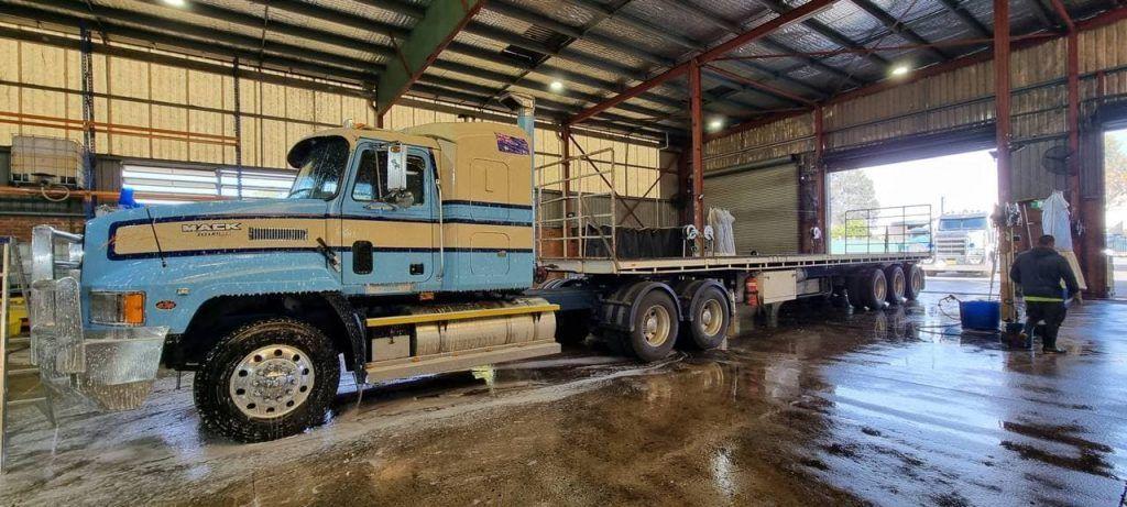 Bluish Cream Truck